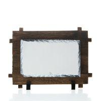 Фотокамень прямоугольник с деревянной рамкой 120х170мм