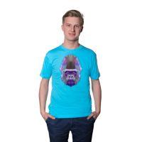 Футболка мужская, голубая, хлопок 100%, 145 гр., 48, L