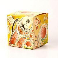 Коробка под кружку желтая