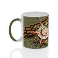 Кружка для сублимации керамика хамелеон зеленая 330мл*