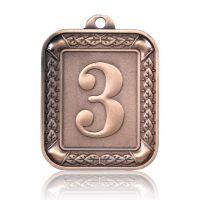Медаль Zj-M922 бронза прямоугольник 56х66мм скругленные углы