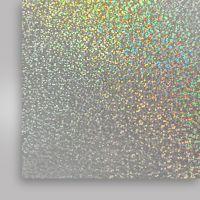 Пленка термотрансферная, голографическая, серебряная, 500мм x 50м