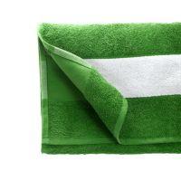Полотенце махровое 30*70 см, 400 г/м2, хлопок, с 1 полем под сублимацию, зеленый (15-5534TPX)