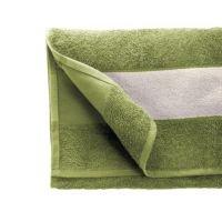 Полотенце махровое 35*70 см, 350 г/м2, хлопок, с 1 полем под сублимацию, зеленый (523)