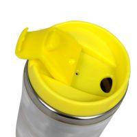 Термостакан металл жёлтый под полиграф вставку 320 мл